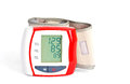 Blood pressure meter with data Stock Image