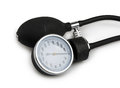 Blood pressure meter medical equipment isolated on white Royalty Free Stock Photo