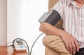 Blood pressure test home use tester Royalty Free Stock Photography