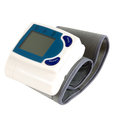 Blood pressure test monitor on white Royalty Free Stock Photography
