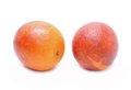 Blood red oranges isolated on white background in studio Stock Image