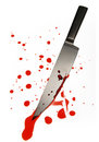 Blood spattered knife Stock Image