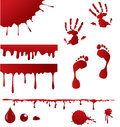 Blood spatters set of and four pouring frame designs for decorating pages Stock Images