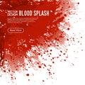 Blood Splash Background Webpage Design Poster Royalty Free Stock Photo
