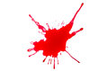 A blood splash on white background Royalty Free Stock Images