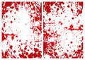 Blood splat frame Stock Image