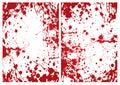 Blood splat frame Royalty Free Stock Photo