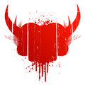 Blood splatter with horns Royalty Free Stock Image