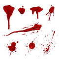 Blood splatters Royalty Free Stock Photo