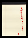Blood Stained Notepad I Royalty Free Stock Photography