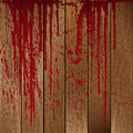 Blood stained wooden planks Royalty Free Stock Image