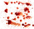 Blood stains on white background Stock Photos