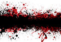 Blood strip top black Royalty Free Stock Photo