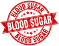 Blood sugar round grunge stamp