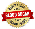 blood sugar round isolated badge