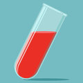 Blood in test tube Royalty Free Stock Photo