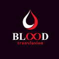 Blood transfusion inscription made with vector infinity symbol a