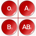 Blood type human or group classification chart illustration Royalty Free Stock Photo