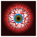 Bloodshot eye bloody eyeball Royalty Free Stock Photo
