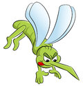 Bloodthirsty cartoon mosquito Royalty Free Stock Photo