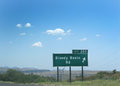 Bloody basin rd exit sign grand canyon arizona united states july scary name on july in grand canyon arizona united states Stock Photos