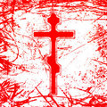 Bloody cross Stock Photography