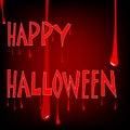 Bloody halloween Stock Image