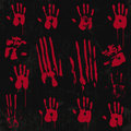 Bloody hand print elements set stamp from real hope u guys enjoy use it Stock Images