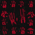 Bloody hand print elements set stamp from real hope u guys enjoy use it Royalty Free Stock Photography