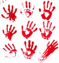 Bloody Hands Royalty Free Stock Photo