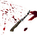 Bloody knife Royalty Free Stock Photos