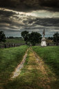 Bloody lane antietam national battlefield sharpsburg maryland site of battle of american civil war Stock Images