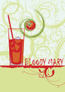 Bloody mary.Abstract vertical cocktail banner Royalty Free Stock Photo