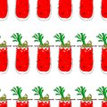 Bloody Mary Cocktail Color Seamless Pattern vector illustration. Glass on white isolated background