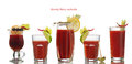 Bloody Mary cocktails Royalty Free Stock Photo