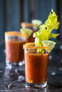 Bloody Mary Shooters Royalty Free Stock Photo
