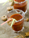 Bloody Mary or tomato juice Royalty Free Stock Photos