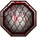 Bloody MMA Octagon Sign.