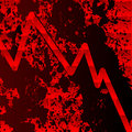 Bloody recession chart Royalty Free Stock Photo