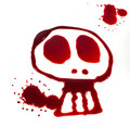 Bloody skull Royalty Free Stock Images
