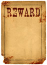 Bloody stained old western reward poster made real antique s paper Royalty Free Stock Photography