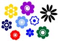 Bloom icons Stock Images