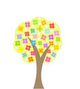 Blooming tree spring vector illustration Royalty Free Stock Images