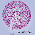 Blossom tree with lilac flowers Royalty Free Stock Photo