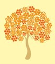 Blossoming tree illustratin srapbooking decoration Royalty Free Stock Images