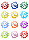 Blossoms colorful percent sign Stock Images