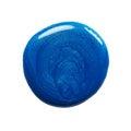 Blot of blue nail polish Royalty Free Stock Photo