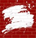 Blot on a brickwall