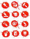 Blot icons Stock Image