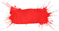 Blot of red watercolor Stock Images